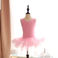 2018 Ballet Gymnastics Leotard Girls Ballet Bodysuit Tutu Skirt Ballerina Dress Kids Performance Practice Wear Clothes DN1862