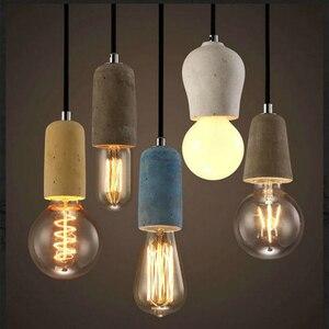 Image 1 - Artpad الصناعية الرجعية مصباح ذو قلادة أسمنتية المطبخ الحمام غرفة الطعام الممر LED ملموسة قلادة مصباح E27 اديسون قاعدة حامل