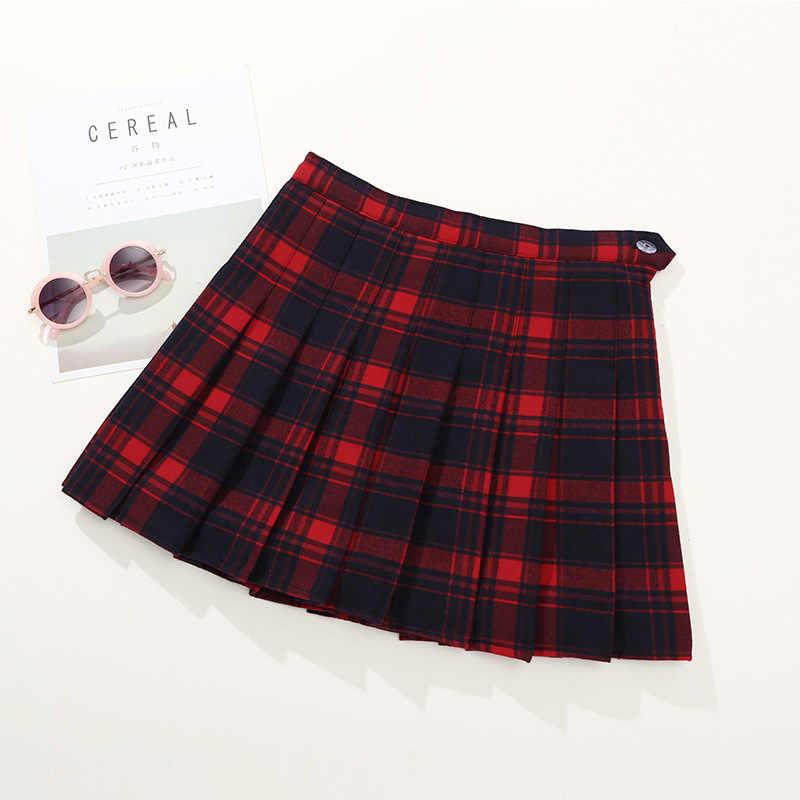 bb90d80e4 Falda a cuadros con estilo para niñas grandes para Otoño Invierno ropa para  niños