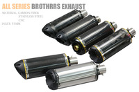 51mm Modified Motorcycle Exhaust Pipe Carbon Fiber CNC Aluminium Alloy CBR R1 R6 ESCAPE Brothers Two