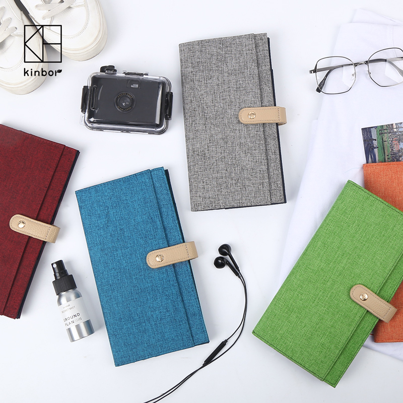 Kinbor Fashion Travel Journal Diary Notebook Planner Cloth Cover Notepad Portable Pocket Notebook Gift School Office Supplies free shipping semi hollow body es335 red electric jazz guitar es 335 new guitars f hole flower point inlay high quality mahogany