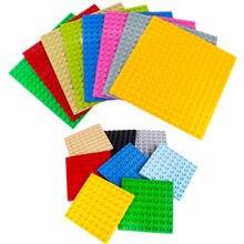 Grande partícula blocos de construção base placas tamanho grande básico grosso fino curvado tijolos acessórios compatíveis com duploed caçoa presente