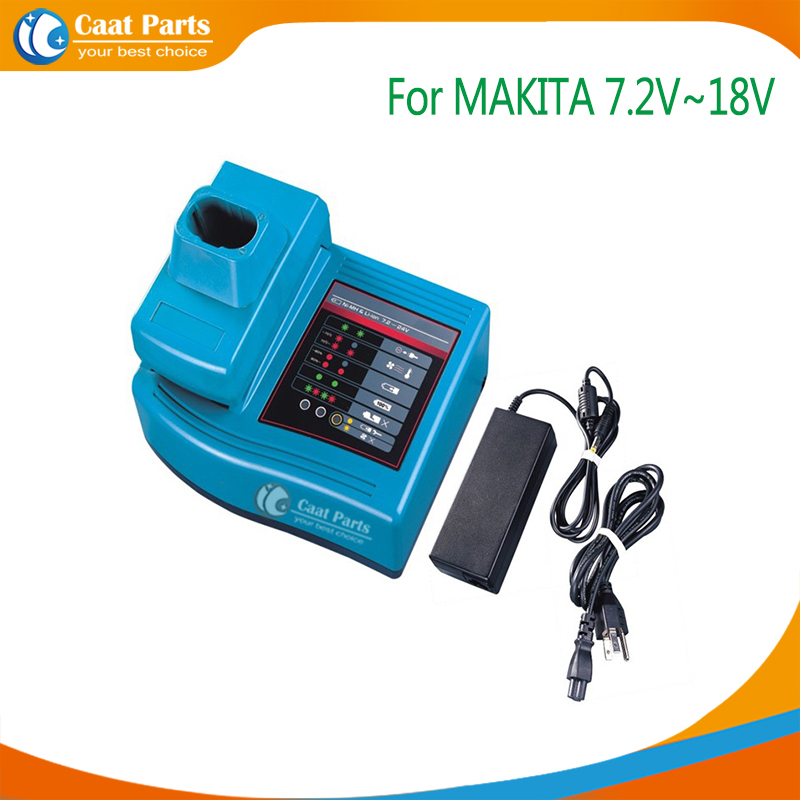 Power Tool Battery Chargers for Makita 7.2V 10.8V-18V Ni-CD, Ni-MH , Li-ion batteries,Including external adaptor as power supply high quality brand new 3000mah 18 volt li ion power tool battery for makita bl1830 bl1815 194230 4 lxt400 charger
