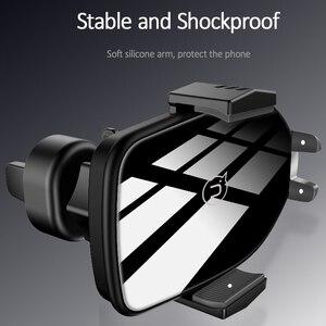 Image 3 - Chargeur de téléphone de voiture sans fil Qi de luxe, support dévent USAMS support pour téléphone de charge rapide 10W pour chargeur iPhone X XS XR Samsung S10