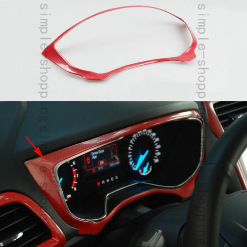 Red Chrome Dashboard Decorative Frame Cover Trim For Ford Fusion Mondeo 13-15