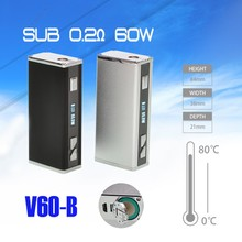 50W Killer Electronic Cigarette Vaporizer Vape Storm Sub Ohm Box Mod U60B 60W,Refill 18650 Battery DIY Vaporizer vs Istick 50W