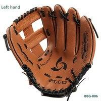 New Children 11inch,10inch Softball PVC Glove Outdoor Sports Baseball Catcher Left Hand Glove
