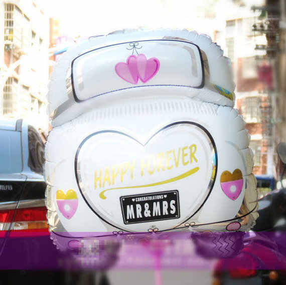 1PC MR MRS Helium wedding Car foil Balloon 63*50cm Wedding Decor Wedding Supply Wedding Party Bridal Shower Decorations