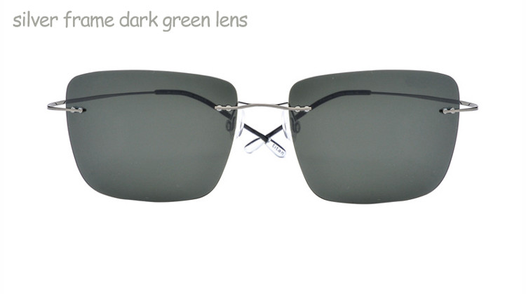 silver frame dark green lens1