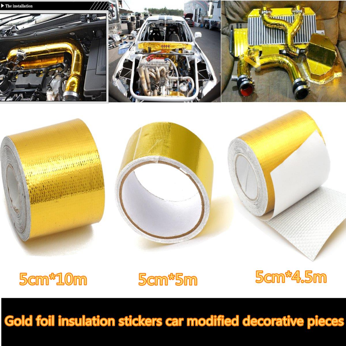 car fiberglass self adhesive gold high temperature heat shield wrap tape in. Black Bedroom Furniture Sets. Home Design Ideas