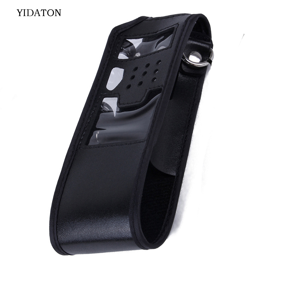 Extended Walkie Talkie Leather Soft Case Holder Holster For Baofeng UV-5R Radio 3800mah UV-5RE Plus UV-5RA Plus TYT TH-F8 THUVF9