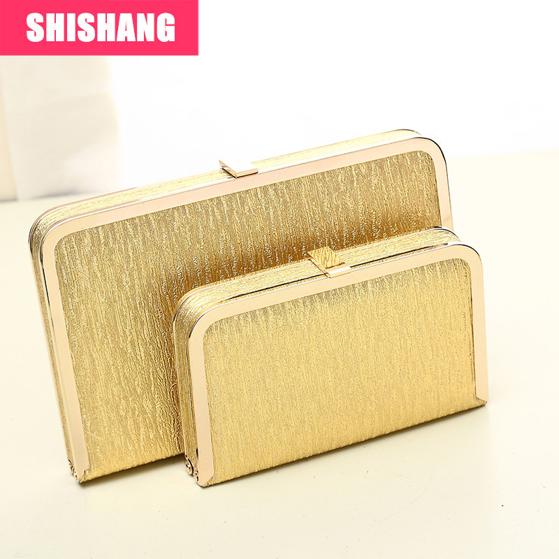 c13275f6cb SHISHANG Fashion Gold evening bag clutch chain of small silver box shoulder  bag-in Clutches from Luggage & Bags on Aliexpress.com | Alibaba Group