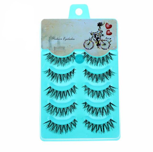 5 Pares Lady Mulheres New Natural Macio Handmade Grosso Falso Cílios Postiços Eye Makeup Lashes Ferramentas