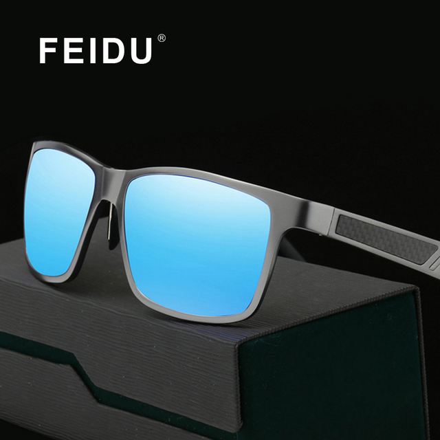 20cc6e635f FEIDU 2016 New Aluminum Magnesium Alloy Polarized Sunglasses Men Brand  Driving Square Sun glasses For Men