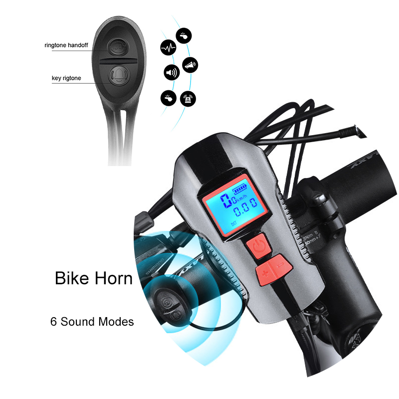 USB Smart Bike Light Computer Front Bike Handlebar Bicycle Lamp MTB Cycling Computer Stopwatch with Horn Function in Bicycle Light from Sports Entertainment