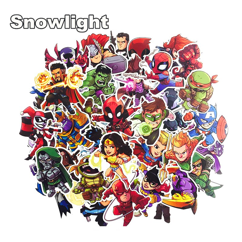 50pcs-marvel-the-avengers-cartoon-sticker-waterproof-for-laptop-moto-skateboard-luggage-guitar-furnitur-decal-toy-stickers