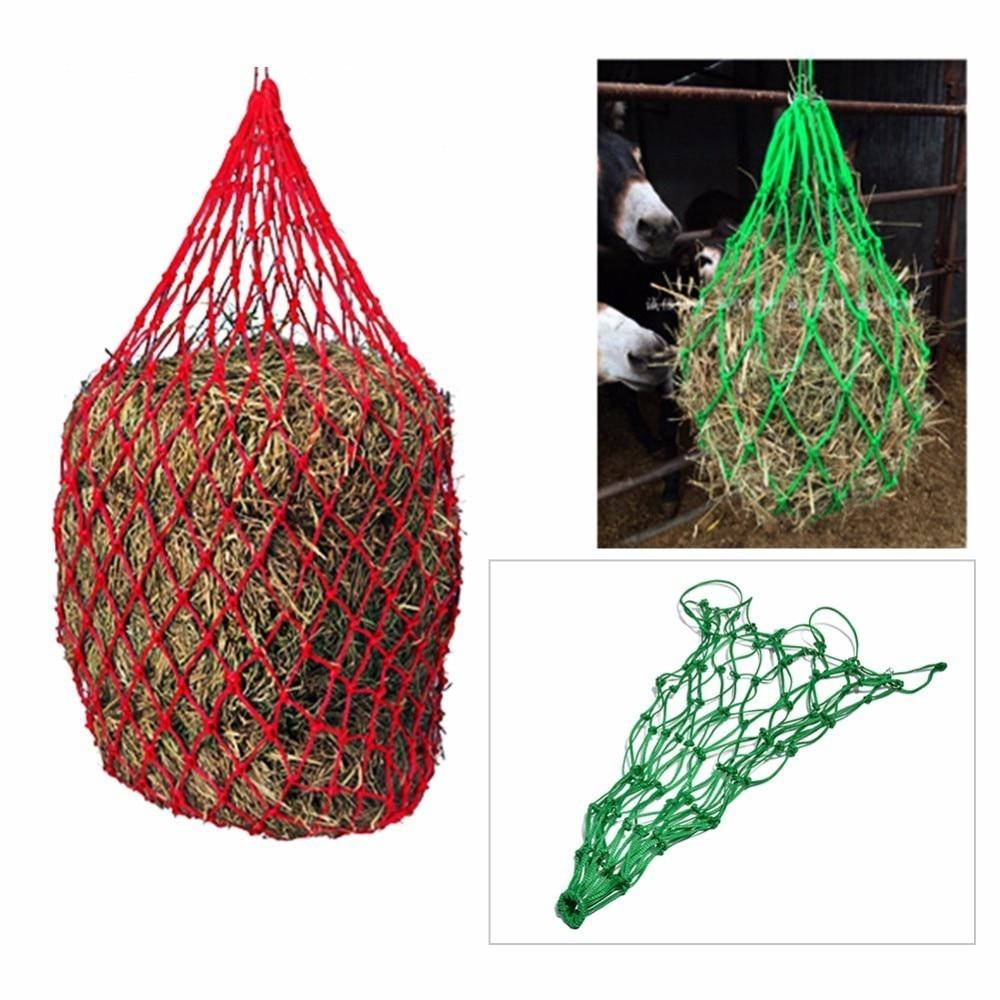 3Colors Horse Forage Net Bag Horse Feeding Bag Hay Net Farm supplies 4.5MM Thick