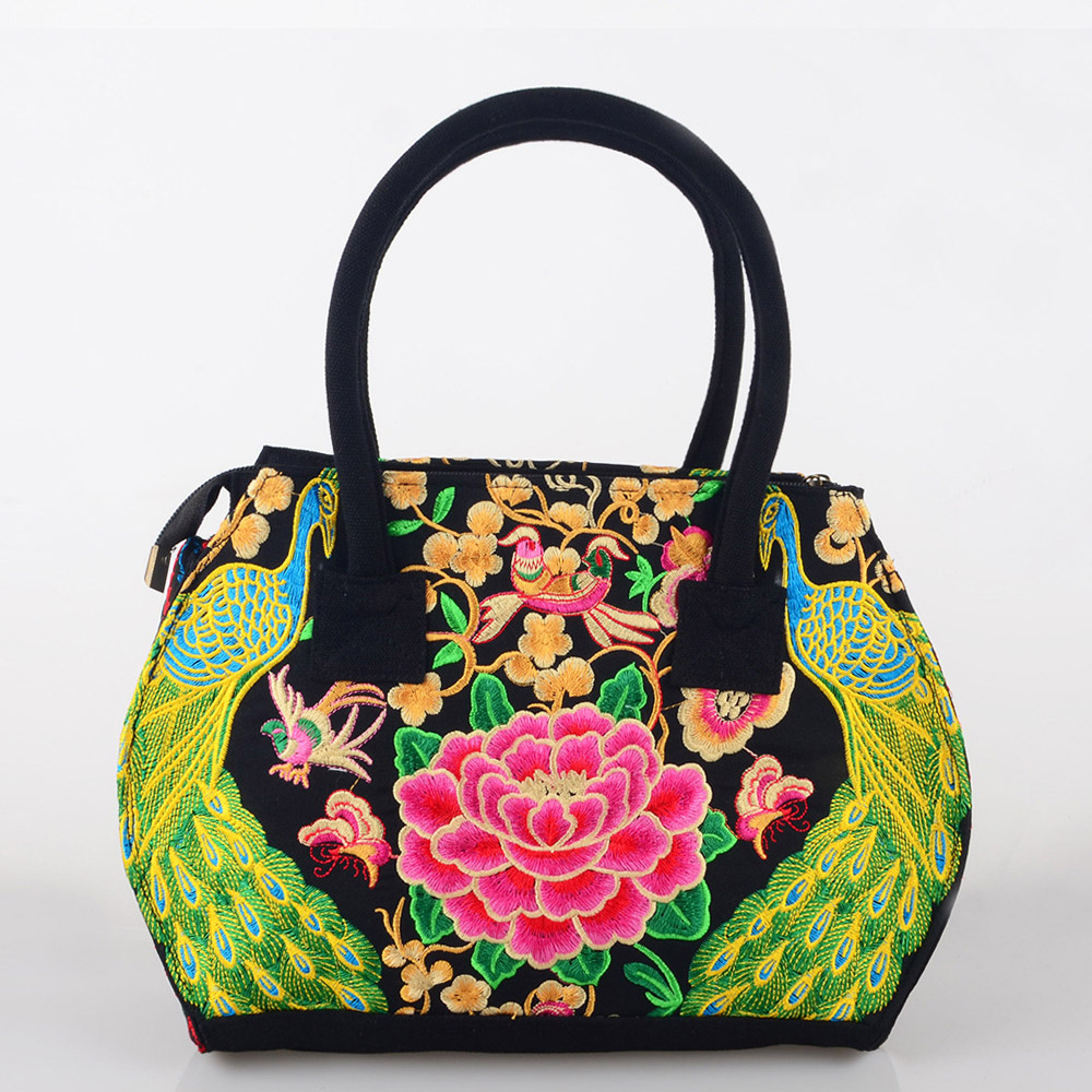 Pure Handmade Hard Case embroidery ethnic bags women handbag flower cross-body shoulder Lady shopping bags peacock embroidered national trend women handmade faced flower embroidered canvas embroidery ethnic bags handbag wml99
