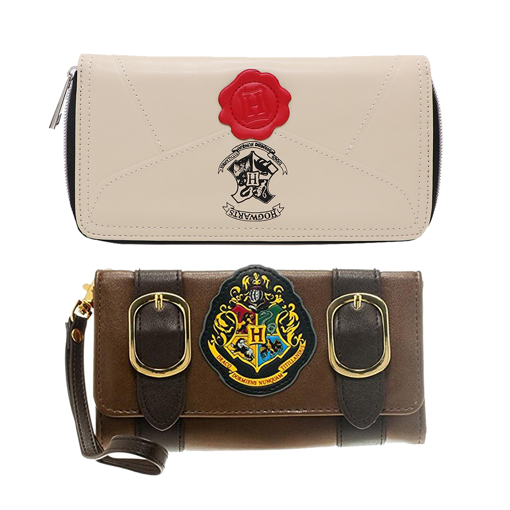 Official Harry Potter Letter Zip Around Walle Woman Wallet Short bi-hand pu money bag mobile phone holder