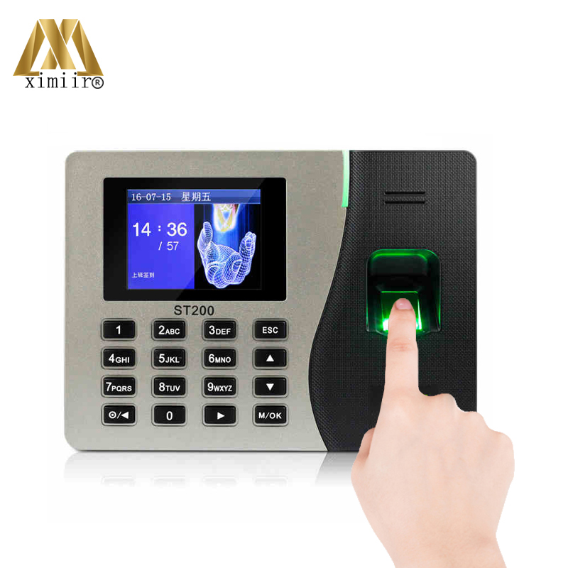 Biometric Fingerprint Time Attendance Machine ZK ST200 With TCP/IP USB Time Attendance Recorder Card Time Clock