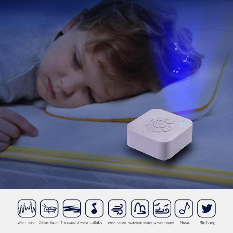 Белая шумовая машина детская Ночная лампа USB перезаряжаемая таймизированная отключение сна звуковая машина для сна Релаксация ребенка взрослых