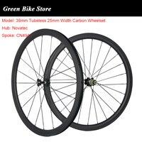 700C Carbon 38mm Tubeless Rennrad Carbon Laufradsatz 25mm Fahrrad Räder Novatec 271 Nabe Räder