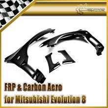 Эпр стайлинга автомобилей для mitsubishi evolution 8 9 evo части углеродного волокна vrs стиль aero gt передней вентилируемый fender