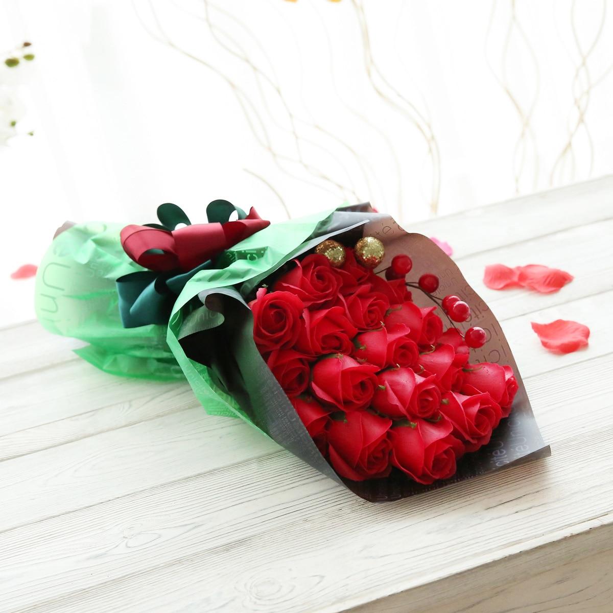 Soap flower teacher's Day gift teacher romantic girlfriend wife bestie practical Mid Autumn Festival Girl Birthday - 2