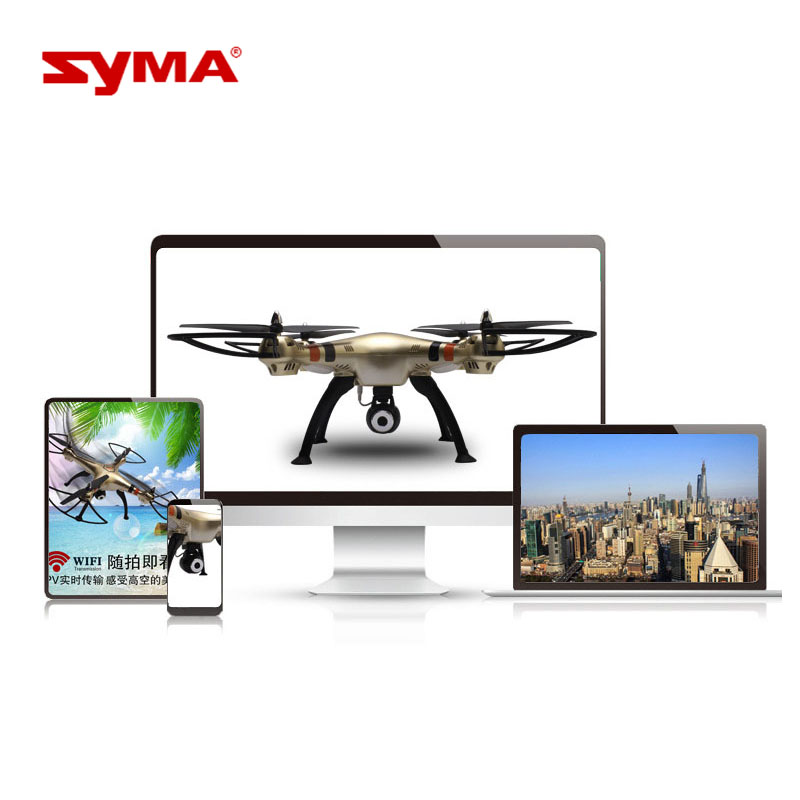 Quadrocopter with Camera 720P WiFi FPV HD Brush Motor Syma X8HW RC Drone 2.4G 4CH 6-Axis Remote Control Helicopter syma x5hw rc helicopter 2 4ghz 4ch 6 axis gyro aircraft drone with 0 3mp fpv wifi camera remote control quadcopter gift toys