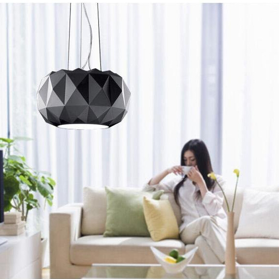 Vitrust Modern Chandelier Lampadario Led Nordic Hanging Lamps Ceiling Living Room Black White Glass Chandeliers Home Lighting vitrust modern pendant lamps nordic led glass crystal bubble lighting hanglamp creative dinning living room bar hanging lamp