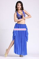 Free Shipping Belly Dance Wear Set 2pcs Top Skirt With Many Colors Belly Dancing Costume Fancy
