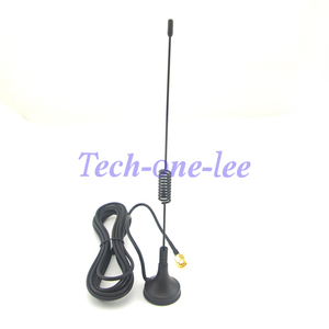 Image 4 - 10 peças/lote gprs gsm antena 900 1800 mhz 3dbi 3m cabo sma masculino magnético base de controle remoto