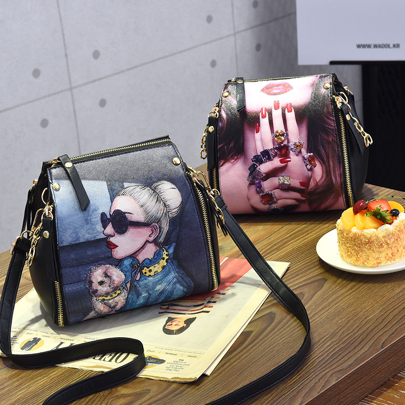 Princess Sissi Ladies Shoulder Bags For Women 2017 New Fashion Cartoon Character CrossbodyBags For Ggirls Black PU Leather Bags princess sissi ladies shoulder bags for women 2017 new fashion cartoon character crossbodybags for ggirls black pu leather bags