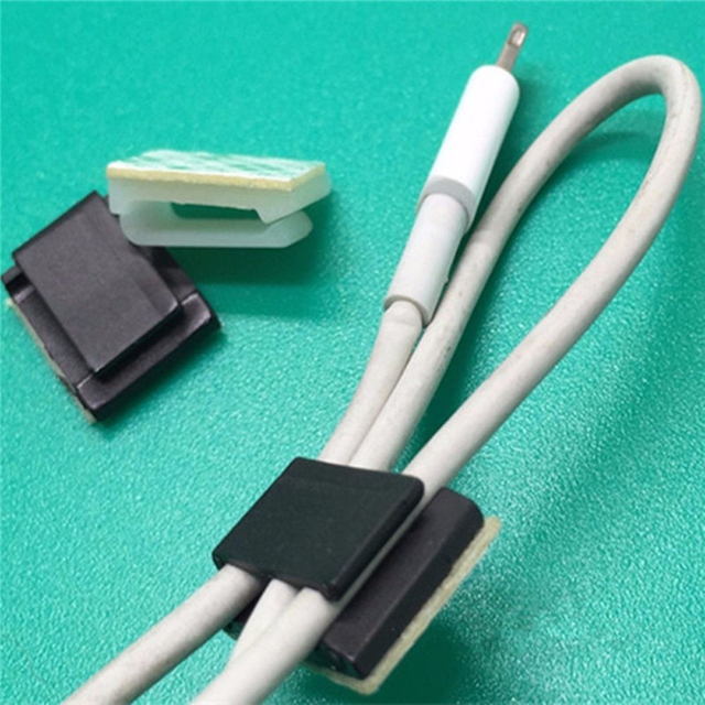 Gizcam 100 pcs/Bag Self Adhesive Rectangle Wire Tie Cable Winder ...
