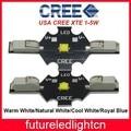 1pcs/lot free ship Solderless Cree XT-E XTE 5W LED Warm White 3000-3200K Cold White 6000-6500K Royal Blue 450-455NM LED CHIP