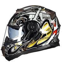 GXT Motorcycle Helmet Flip Up Double Lenses Helmets Motocross Capacete Casco Moto Full Face Motorbike Helmets