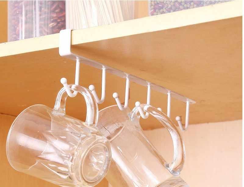 Kitchen Storage Rack Cupboard Hanging Hook Hanger Mug Hooks Rack Hanger Coffee Cup Storage Holder For Kitchen Accessories T1p Hooks Rails Aliexpress