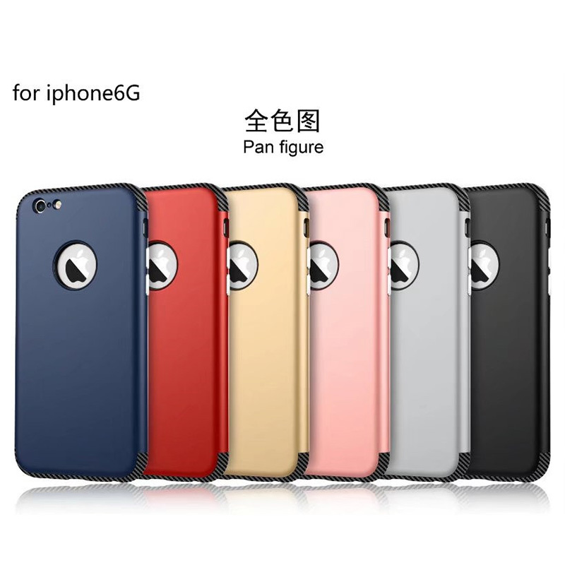 VBNM Luxury Silicon Case For iPhone 6 6S Plus Soft Phone Back Cover Carbon Fiber Coque For iPhone 7Plus Capinha six color a pack