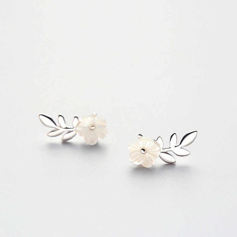 INZATT โรแมนติกพืชดอกไม้ใบต่างหูเสน่ห์จริง 925 เงินสเตอร์ลิงเครื่องประดับ Fine สำหรับผู้หญิงน่ารักงานแต่งงานของขวัญ