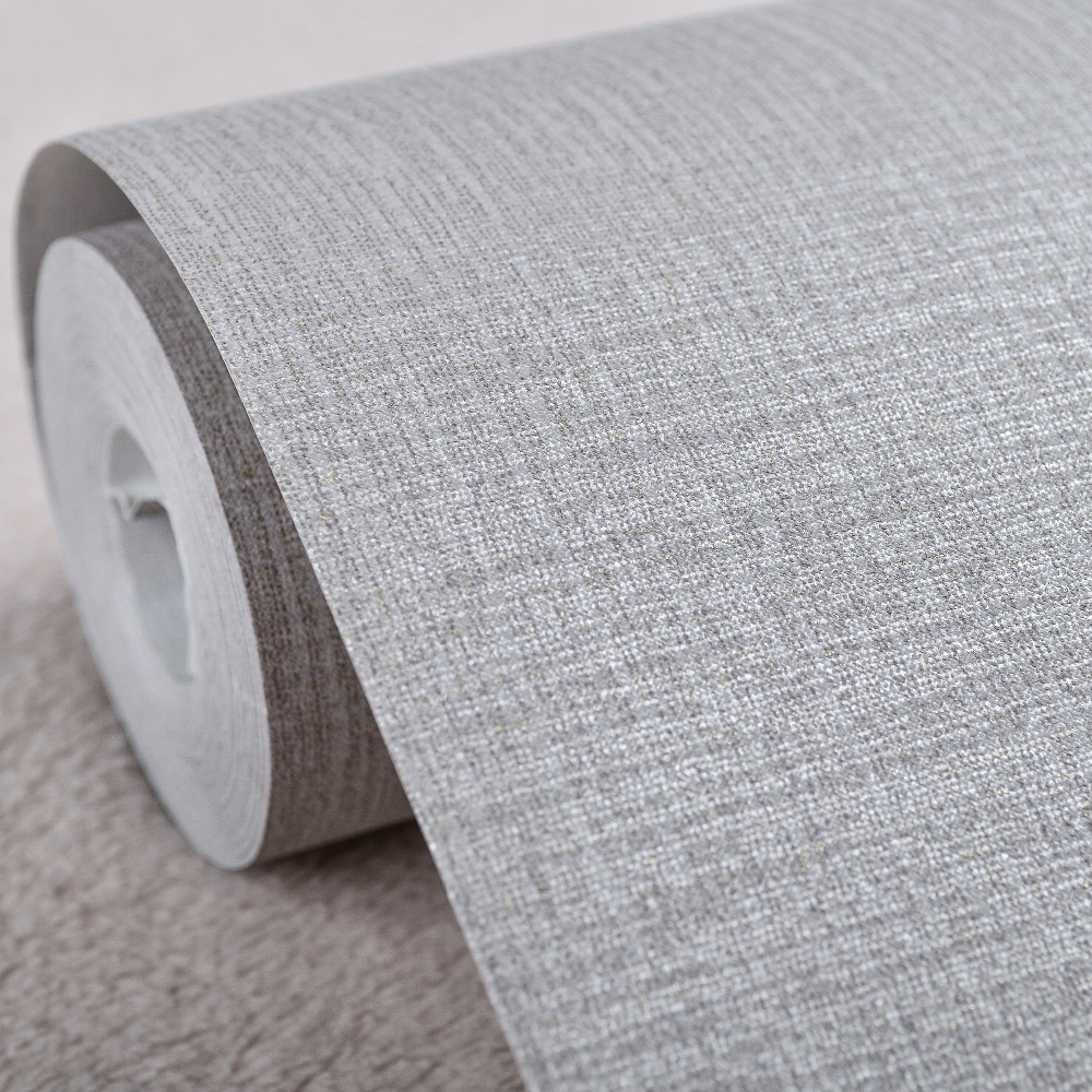 Simple Modern Faux Linen Fabric Wallpaper Neutral Vertical Cloth ...