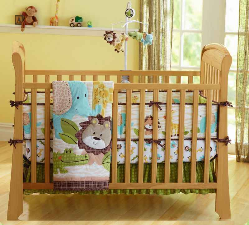 Baby Bedding Set African Lion Baby Crib Bedding Set for Girl Boy Baby Bed Set Quilt Mattress Crib Skirt Crib Protector Bumpers
