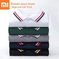 Original Xiaomi Mijia 90 Points Short Sleeve Outdoor Polo Shirt Cotton Breathable Not Easily Deformed Leisure Lapel Men Summer
