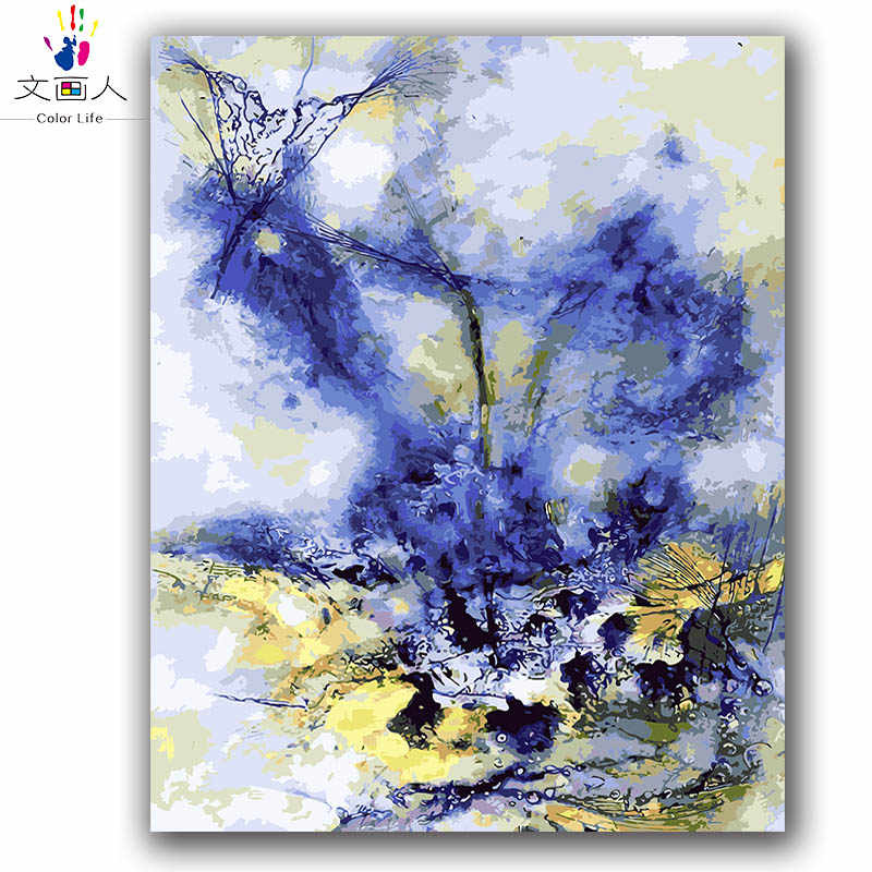 Abstract picture numbers oil painting Chinese famous painting Abstract ink digital paint coloring by numbers with kits package