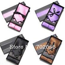 Комплект из 3 предметов, Одноцветный тонкий мужской коммерческий комплект галстуков, деловой галстук Мужские галстуки Галстук мужской галстук
