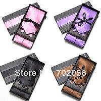 4 Solid Color Fine Plaid Male Commercial Set Tie