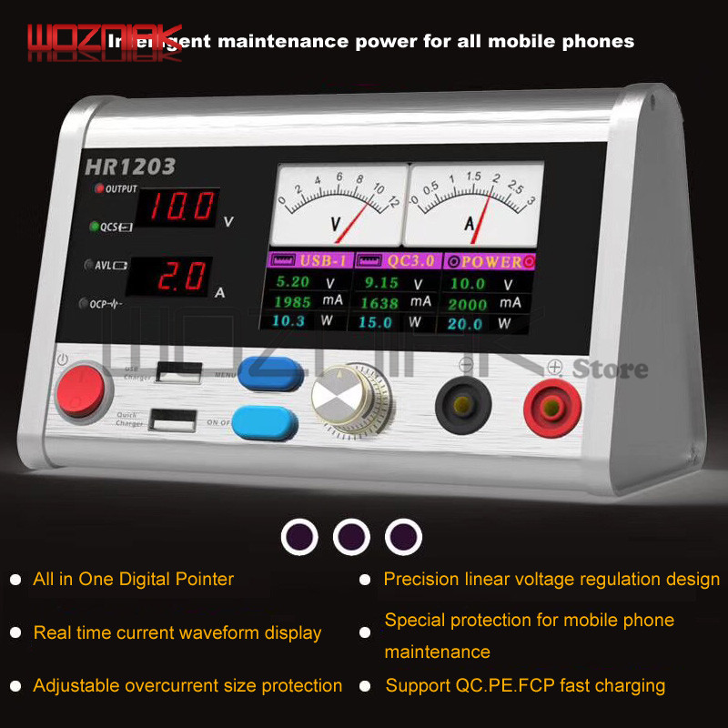 All Handset maintenance stable power meter Current oscilloscope Fast charging interface Safety protective current device
