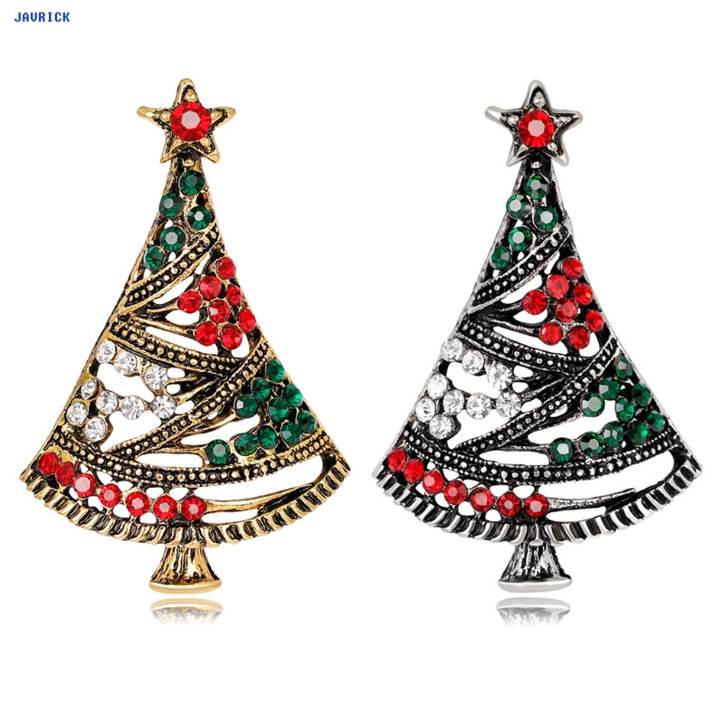 ccea336b0 JAVRICK Multi Colored Christmas Tree Rhinestone Decor Charms Brooch Pin  Ornaments Winter Creative Jewelry Gifts-in Brooches from Jewelry &  Accessories on ...