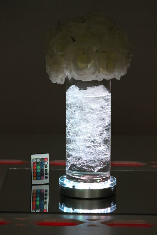 10pcs rechargeable lithium Battery LED Vase Party Light for Wedding Centerpieces Decoration Vases Led Party Light Include Remote