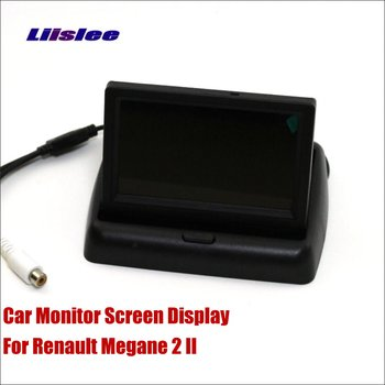 Liislee For Renault Megane 2 II Car Foldable HD TFT LCD 4.3 inch Monitor Screen Display / NTSC PAL Color TV System image