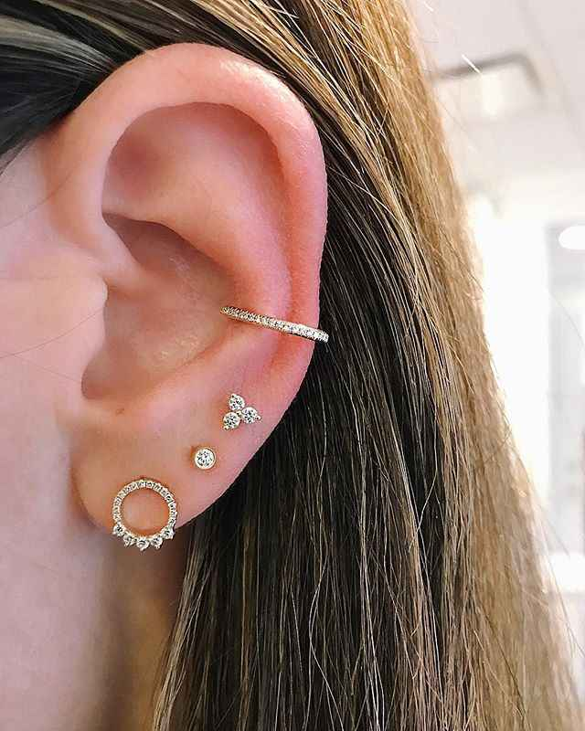 5f0545cfd Delicate girl women ear stud tiny flower chic 925 sterling silver  three-prtal red\